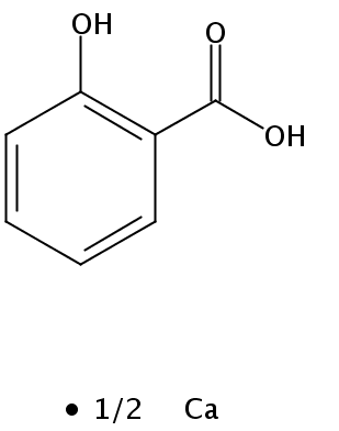 Chemical Structure for Calcium salicylate