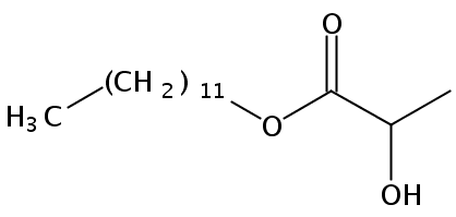 Chemical Structure for Lauryl lactate