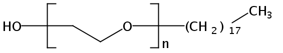 Chemical Structure for POE (10) stearyl alcohol ether
