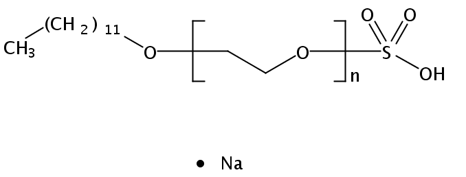 Chemical Structure for POE (2) sodium lauryl ether sulfate