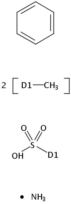 Chemical Structure for Ammonium xylene sulfonate