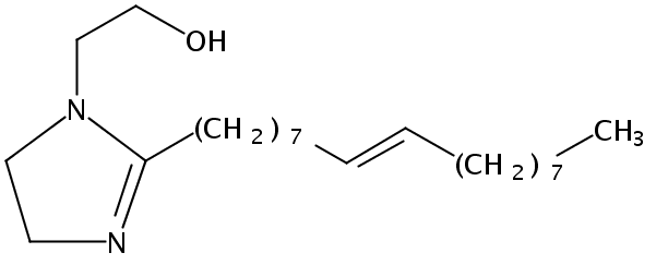 Chemical Structure for N-b-Hydroxyethyl oleyl imidazoline