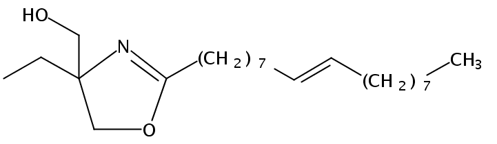 Chemical Structure for Ethyl hydroxymethyl oleyl oxazoline