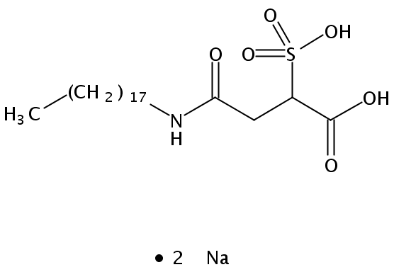 Chemical Structure for Disodium N-octadecyl sulfosuccinamate