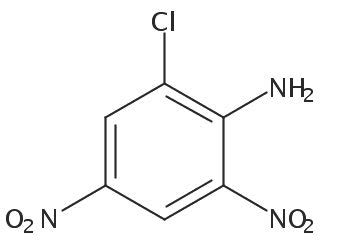 Chemical Structure for 2-Chloro-4,6-dinitroaniline Solution