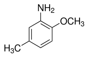 Chemical Structure for 2-Methoxy-5-methylaniline Solution