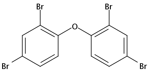 Chemical Structure for 2,2',4,4'-Tetrabromodiphenyl ether (BDE 47) Solution