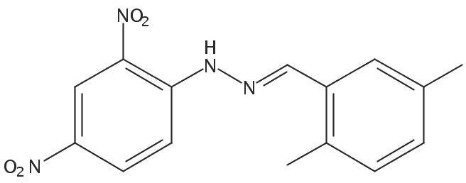 Chemical Structure for 2,5-Dimethylbenzaldehyde (DNPH Derivative) Solution