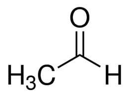 Chemical Structure for Acetaldehyde Solution