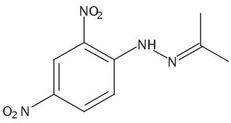 Chemical Structure for Acetone (DNPH Derivative) Solution