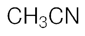 Chemical Structure for Acetonitrile Solution