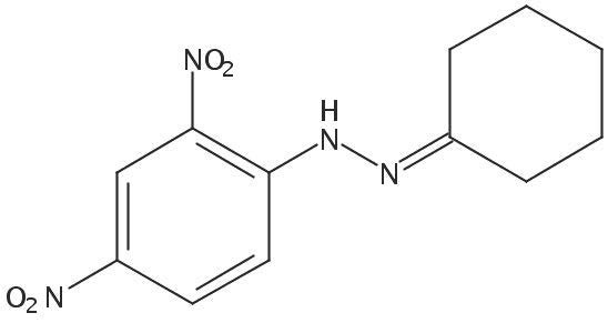 Chemical Structure for Cyclohexanone (DNPH Derivative) Solution