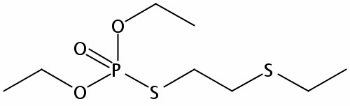 Chemical Structure for Demeton S Solution