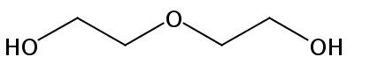 Chemical Structure for Diethylene glycol Solution