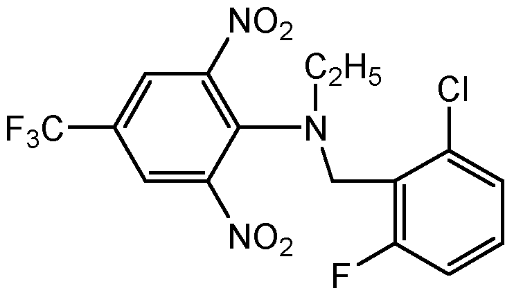 Chemical Structure for Flumetralin Solution