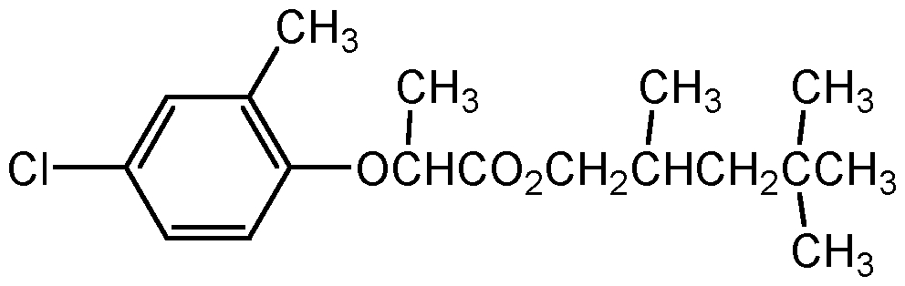 Chemical Structure for Mecoprop-2,4,4-trimethylpentyl ester Solution
