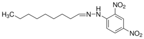 Chemical Structure for Nonanal (DNPH Derivative) Solution