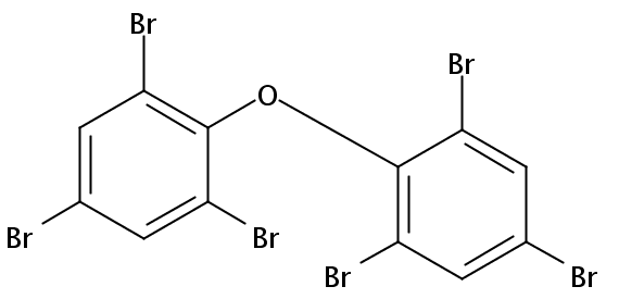 Chemical Structure for 2,2',4,4',6,6'-Hexabromodiphenyl ether (BDE 155) Solution