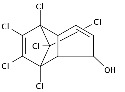 Chemical Structure for 1-Hydroxychlordene Solution