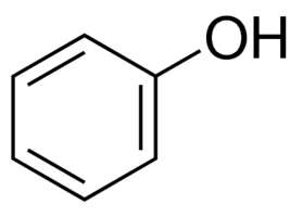 Chemical Structure for Phenol Solution