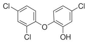 Chemical Structure for Triclosan Solution