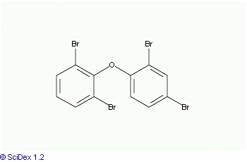 Chemical Structure for 2,2',4,6'-Tetrabromodiphenyl ether (BDE 51) Solution