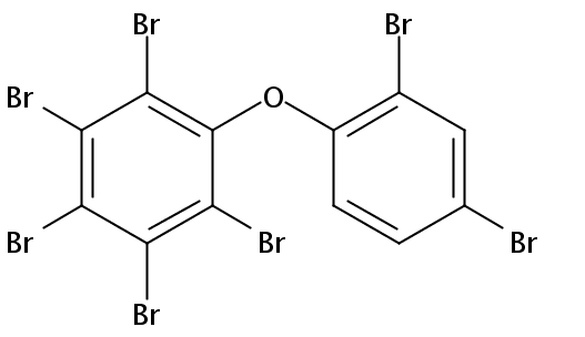 Chemical Structure for 2,2',3,4,4',5,6-Heptabromodiphenyl ether (BDE-181) Solution