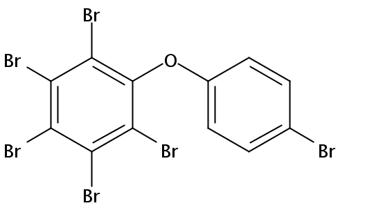 Chemical Structure for 2,3,4,4',5,6-Hexabromodiphenyl ether (BDE-166) Solution