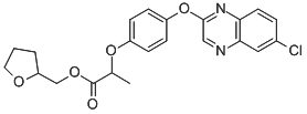 Chemical Structure for Quizalofop-p-tefuryl Solution