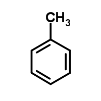 Chemical Structure for Toluene Solution