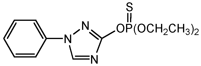 Chemical Structure for Triazophos Solution