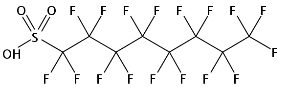 Chemical Structure for Perfluorooctanesulfonic acid Solution