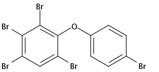 Chemical Structure for 2,3,4,4',6-Pentabromodiphenyl ether (BDE-115) Solution