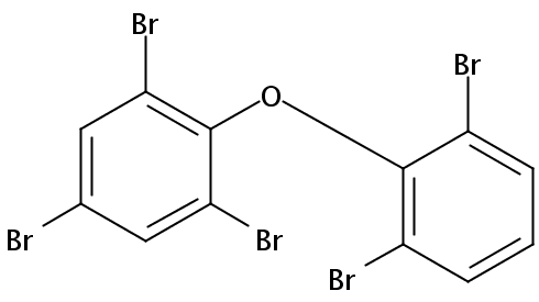 Chemical Structure for 2,2',4,6,6'-Pentabromodiphenyl ether (BDE 104) Solution