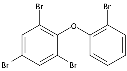 Chemical Structure for 2,2',4,6-Tetrabromodiphenyl ether (BDE 050) Solution