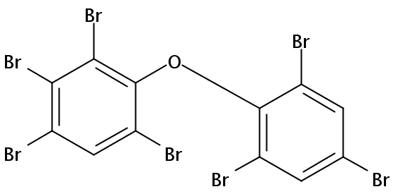 Chemical Structure for 2,2',3,4,4',6,6'-Heptabromodiphenyl ether (BDE-184) Solution